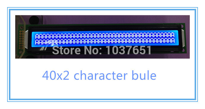 LCD WH4002A 40*2 blue lcd